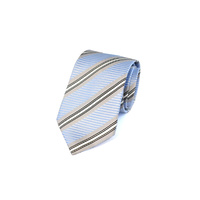 Blue & Silver Stripe Silk Tie by Pinoti