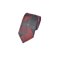 Red & Black Wave Silk Tie by Pinoti