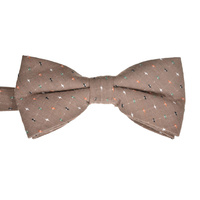 Mocha Spotted Cotton Bowtie