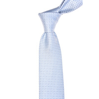 Geometric Light Blue Silk Tie