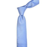 Checkered Light Blue Silk Tie