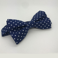 Navy with small swiss dots #BT4