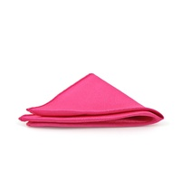 Satin Fushia Pocket Square - C05