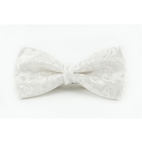 Ivory Floral Bow Tie C903