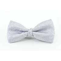 Silver Paisley Bow Tie C908