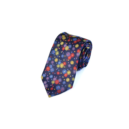10020 Navy & Red Multi Floral Silk Tie