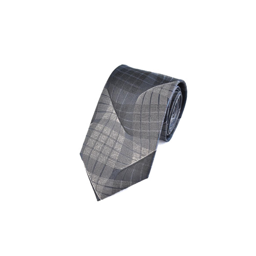 10039 Silver & Black Wave Silk Tie