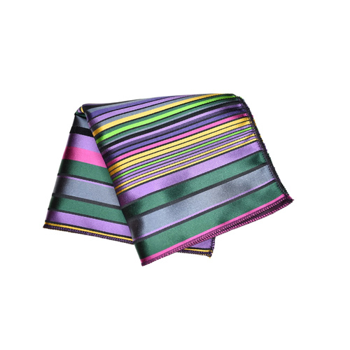 Lilac Multicolour Silk Pocket Square