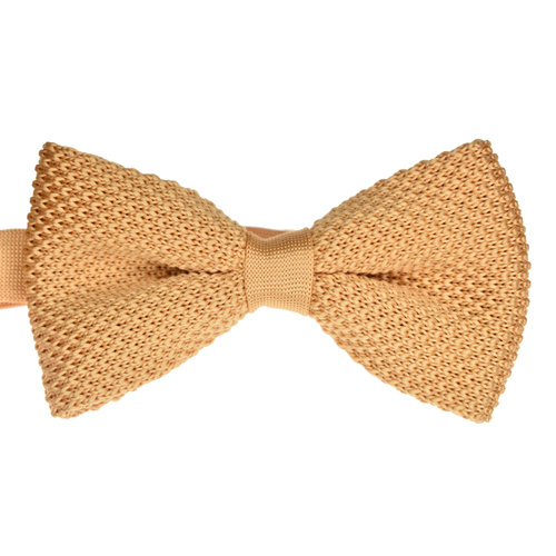 Salmon Knitted Bowtie