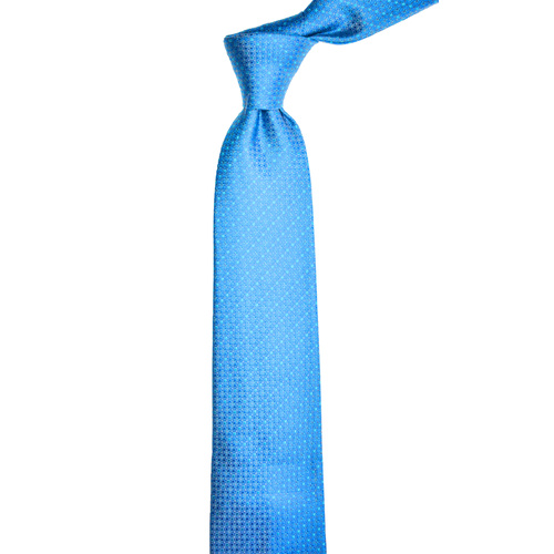 Checkered Aqua Silk Tie