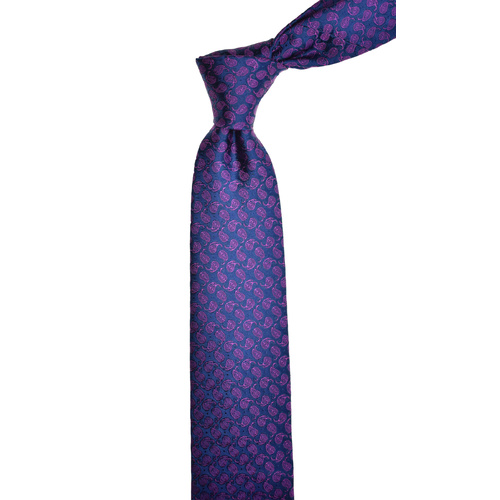 Paisley Purple Silk Tie