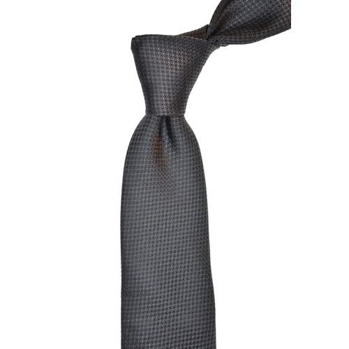 Houndstooth Grey Silk Tie