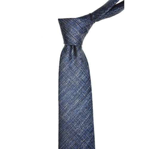 Marle Striped Navy Silk Tie
