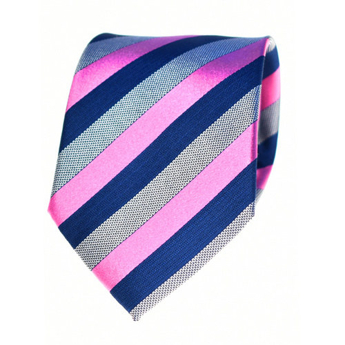Striped Pink Silk Tie