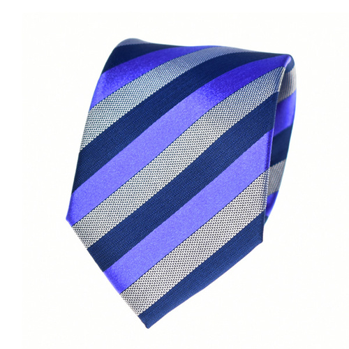Striped Purple Silk Tie