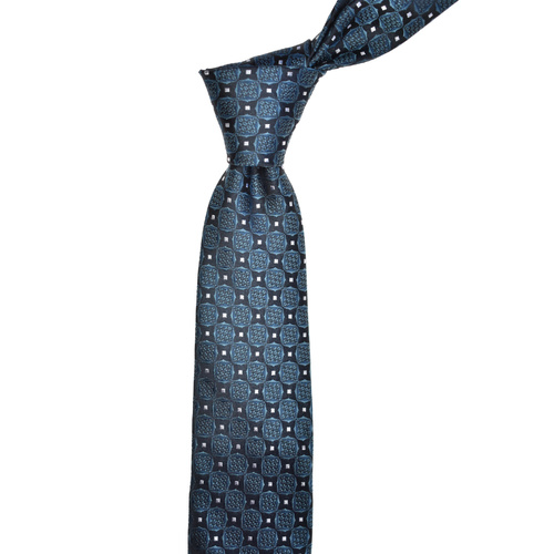 Floral Check Green Silk Tie