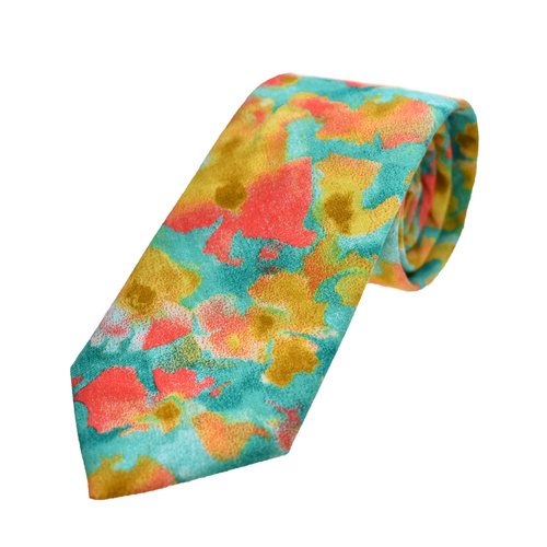 Impressionist Floral Tie