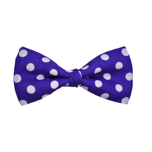 Purple Polka Dots Bow Tie