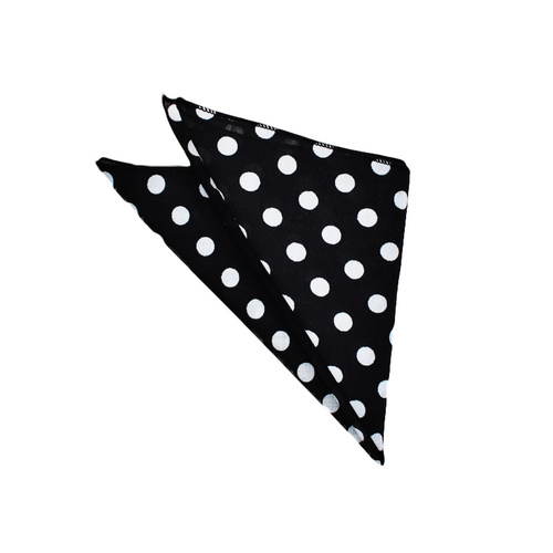 Black Polka Dots Pocket Square