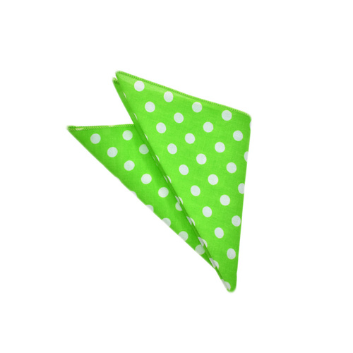 Lime Polka Dots Pocket Square