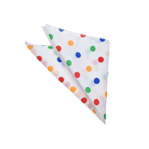 Rainbow Polka Dots Pocket Square