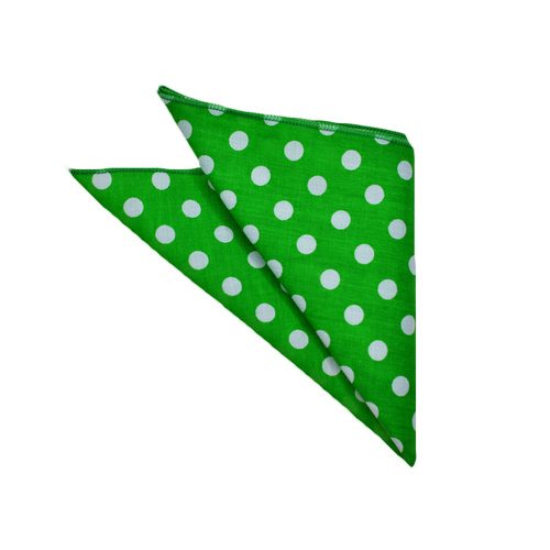 Green Polka Dots Pocket Square